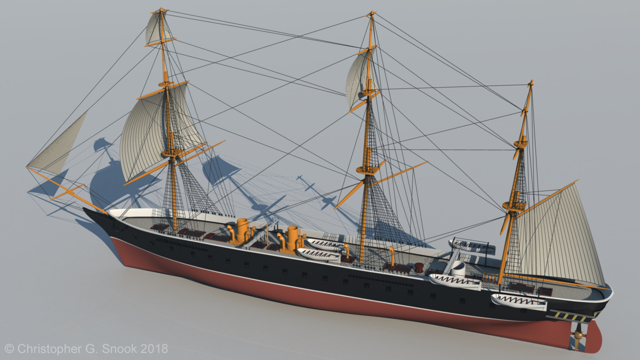 HMS Warrior 1860 - Hull Form and Clipper Bow