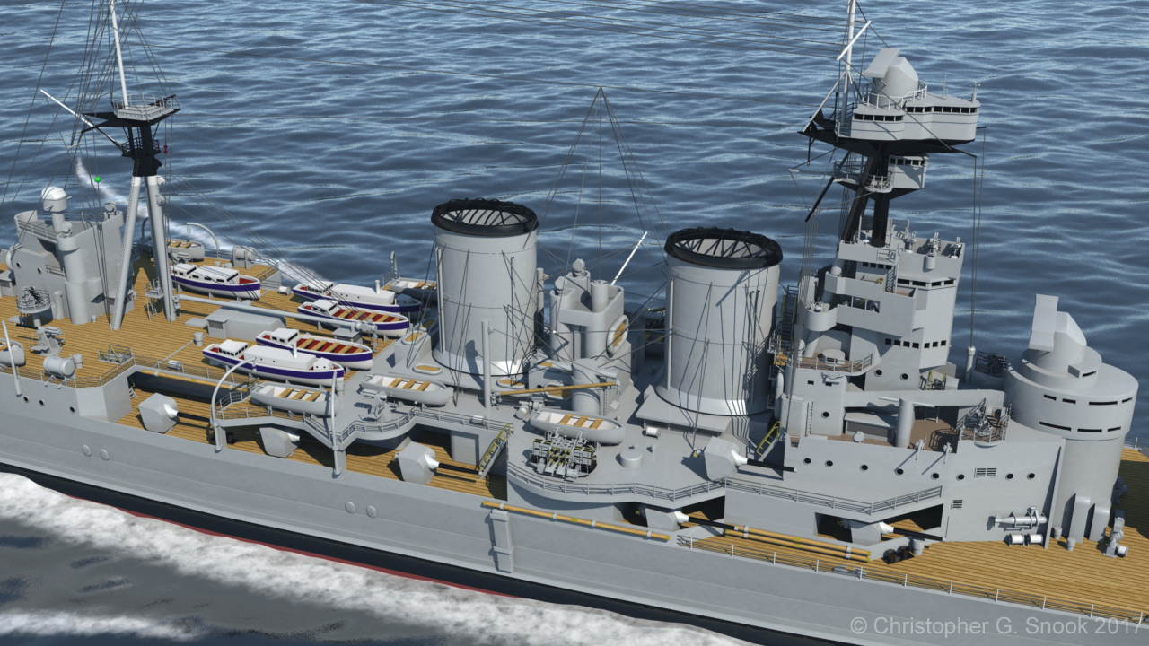 HMS Hood 1937 - Midships